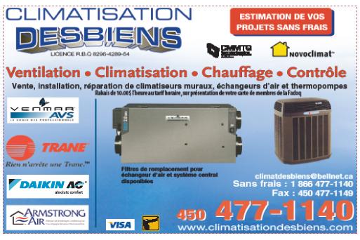 Climatisation Desbiens